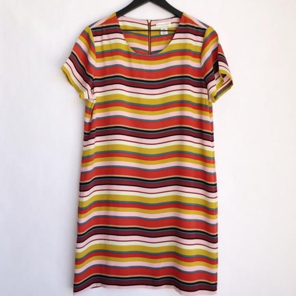 Adrienne Vittadini Multi Striped Shift Dress